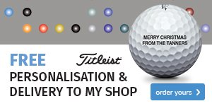 Titleist free ball personalisation - from £22.99
